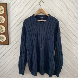 Blumarine Uomo Made In Italy Cable Knit Sweater